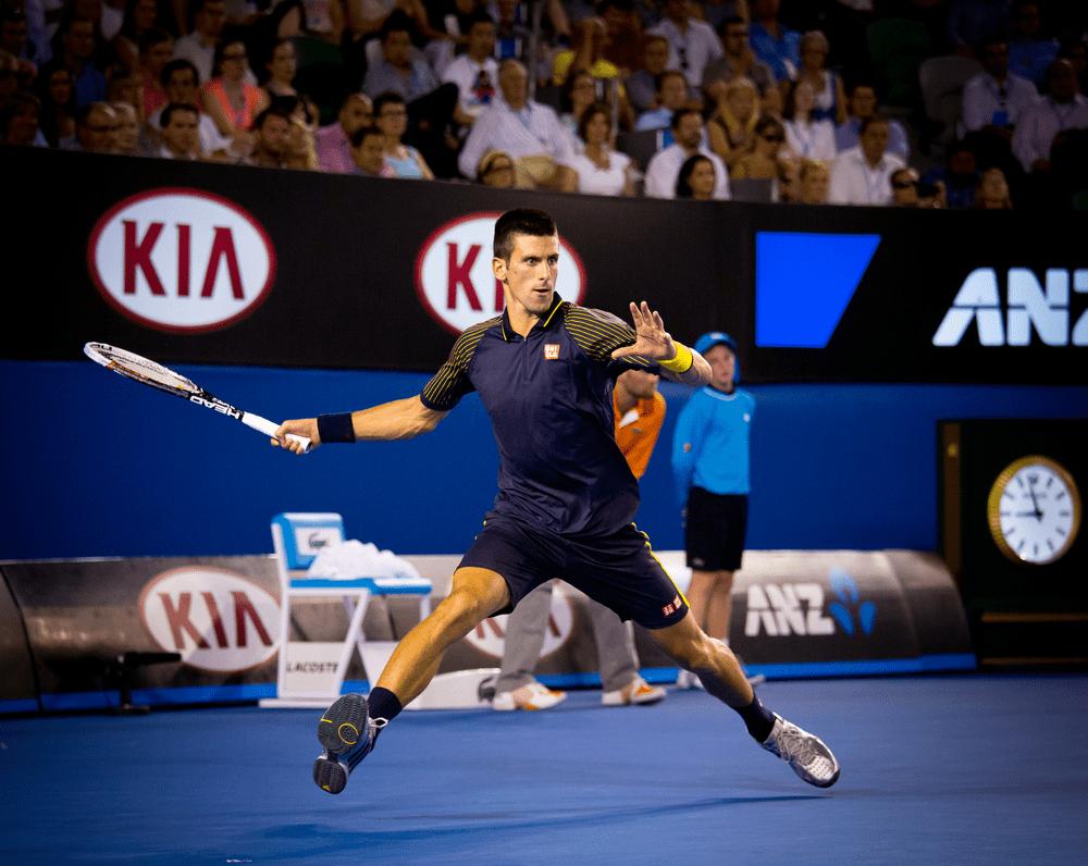 Imagen del tenista Novak Djokovic, deportista vegano