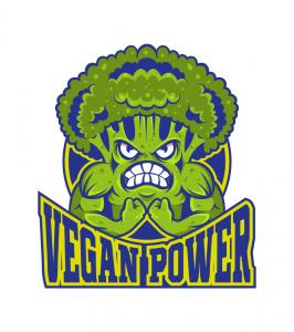 Logotipo vegan power