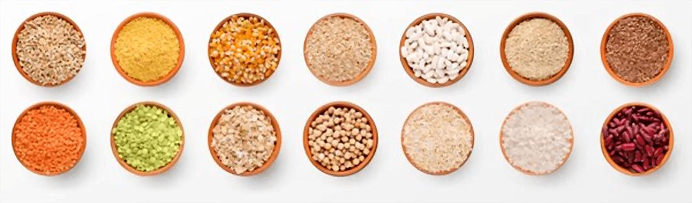 En esta imagen aparecen diferentes tipos de legumbres