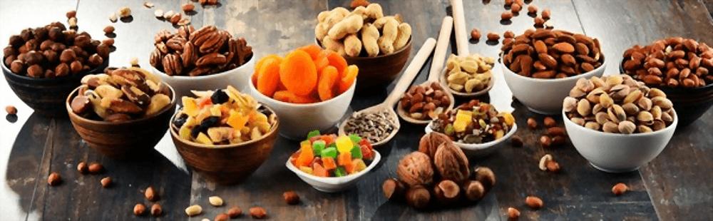 En esta imagen aparecen diferentes frutos secos