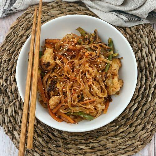 En esta imagen aparecen unos noodles de arroz