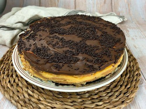 En esta imagen aparece una tarta de la abuela vegana